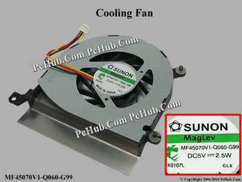 SUNON MF45070V1-Q060-G99, 60Y5519 DC 5 V 2.5 W Laptop Fan Server